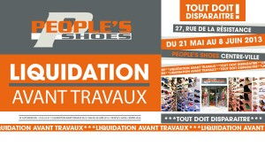 people 39 s shoes centre ville montauban liquidation avant travaux du 21 mai au 8 juin 2013. Black Bedroom Furniture Sets. Home Design Ideas