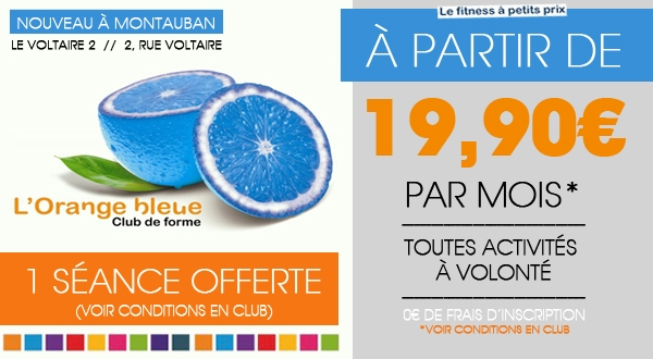 d couvrez l orange bleue la nouvelle salle de sport montauban tonight montauban. Black Bedroom Furniture Sets. Home Design Ideas